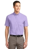 Short Sleeve Easy Care Shirt Bright Lavender Thumbnail