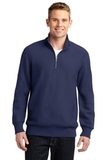 Sport-tek Super Heavyweight 1/4-zip Pullover Sweatshirt True Navy Thumbnail