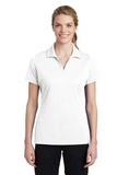 Women's Sport-Tek PosiCharge RacerMesh Polo White Thumbnail