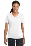 Women's Racermesh V-neck Tee White Thumbnail