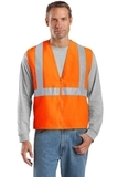 Ansi-compliant Safety Vest Safety Orange with Reflective Thumbnail
