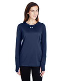 Women's Under Armour Long-Sleeve Locker T-Shirt 2.0 Midnight Navy Thumbnail