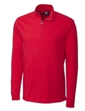 Cutter & Buck Men's Pima Cotton Long Sleeve Belfair Half-Zip Mock Turtleneck Red Thumbnail