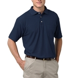 Adult Short Sleeve Pique Polo Shirt With Pocket Navy Thumbnail