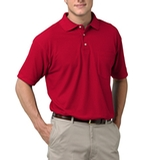 Adult Short Sleeve Pique Polo Shirt With Pocket Red Thumbnail