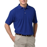 Adult Short Sleeve Pique Polo Shirt With Pocket Royal Thumbnail