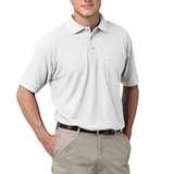 Adult Short Sleeve Pique Polo Shirt With Pocket White Thumbnail