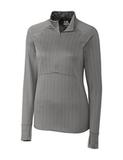 Women's Cutter & Buck DryTec Hamden Jacquard Pullover Elemental Gray Thumbnail