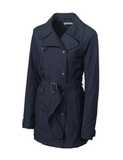 Women's Cutter & Buck WeatherTec Mason Trench Coat Navy Blue Thumbnail