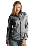 Antigua Women's Full-Zip Golf Jacket Black Heather Thumbnail