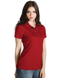 Women's Inspire Polo Dark Red Thumbnail