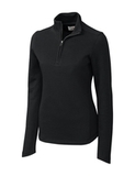 Women's Cutter & Buck Pima Cotton Decatur Pullover Black Thumbnail