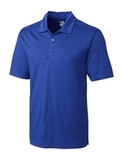 Cutter & Buck Men's DryTec Big & Tall Chelan Polo Shirt Tour Blue Heather Thumbnail