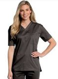 All Day Unisex V-neck scrub top Black (BKMST) Thumbnail