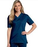 All Day Unisex V-neck scrub top Navy (BNMST) Thumbnail