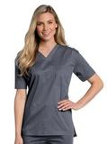 All Day Unisex V-neck scrub top Steel (STMST) Thumbnail