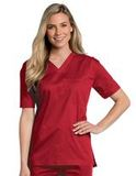 All Day Unisex V-neck scrub top True Red (TRMST) Thumbnail