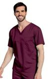 All Day Unisex V-neck scrub top Wine (RWMST) Thumbnail