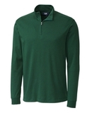 Cutter & Buck Men's Pima Cotton Long Sleeve Belfair Half-Zip Mock Turtleneck Hunter Thumbnail