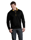 Antigua Leader Pullover Black with Gold Thumbnail