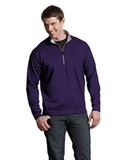 Antigua Leader Pullover Dark Purple with Silver Thumbnail