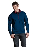 Antigua Leader Pullover Navy with Dark Red Thumbnail