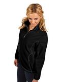 Antigua Women's Ice Jacket Black with Steel Thumbnail