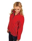 Antigua Women's Ice Jacket Dark Red with Steel Thumbnail