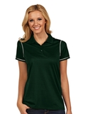 Antigua Women's Icon Golf Shirt Dark Pine with White Thumbnail