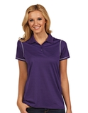 Antigua Women's Icon Golf Shirt Dark Purple with White Thumbnail