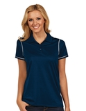 Antigua Women's Icon Golf Shirt Navy with White Thumbnail