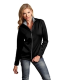 Antigua Women's Leader Jacket Black with Silver Thumbnail