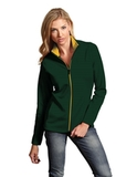 Antigua Women's Leader Jacket Dark Pine with Gold Thumbnail