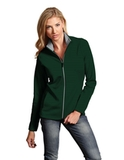 Antigua Women's Leader Jacket Dark Pine with Silver Thumbnail