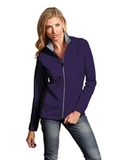 Antigua Women's Leader Jacket Dark Purple with Silver Thumbnail