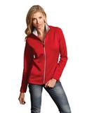 Antigua Women's Leader Jacket Dark Red with Silver Thumbnail