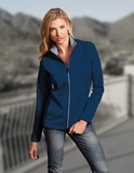 Antigua Women's Leader Jacket Dark Royal with Silver Thumbnail