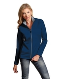 Antigua Women's Leader Jacket Navy with Silver Thumbnail