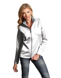 Antigua Women's Leader Jacket White with Silver Thumbnail