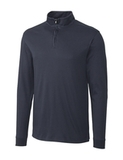 Cutter & Buck Men's Pima Cotton Long Sleeve Belfair Half-Zip Mock Turtleneck Onyx Thumbnail