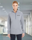 Women's Under Armour Stripe 1/4-Zip Graphite Thumbnail