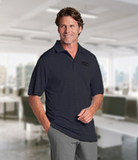 Cutter & Buck Men's DryTec Big & Tall Franklin Stripe Polo Shirt Onyx with White Thumbnail