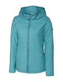 Women's Cutter & Buck Panoramic Packable Wind Jacket Teal Blue Thumbnail