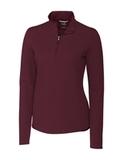 Women's Cutter & Buck Long Sleeve Advantage Mock Turtleneck Bordeaux Thumbnail