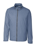 Cutter & Buck Men's Panoramic Packable Wind Jacket Liberty Navy Thumbnail