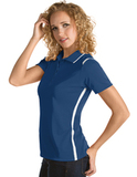 Women's Antigua Merit Desert Dry Polo Dark Royal with White Thumbnail