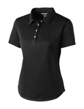 Women's Cutter & Buck Fiona DryTec Polo Black Thumbnail