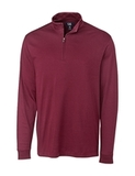 Cutter & Buck Men's Pima Cotton Long Sleeve Belfair Half-Zip Mock Turtleneck Chutney Thumbnail