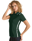 Women's Antigua Merit Desert Dry Polo Dark Pine with White Thumbnail
