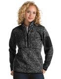 Antigua Women's Fortune Pullover Black Heather Thumbnail